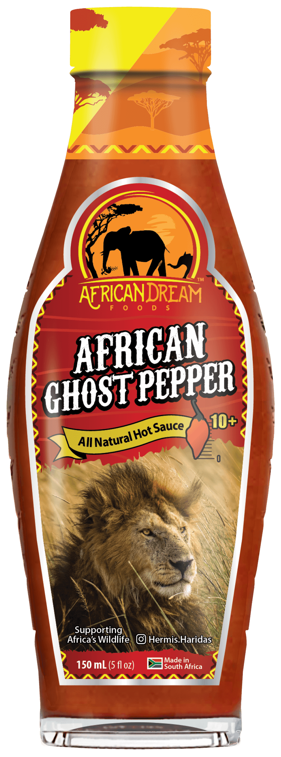 African Ghost Pepper Hot sauce