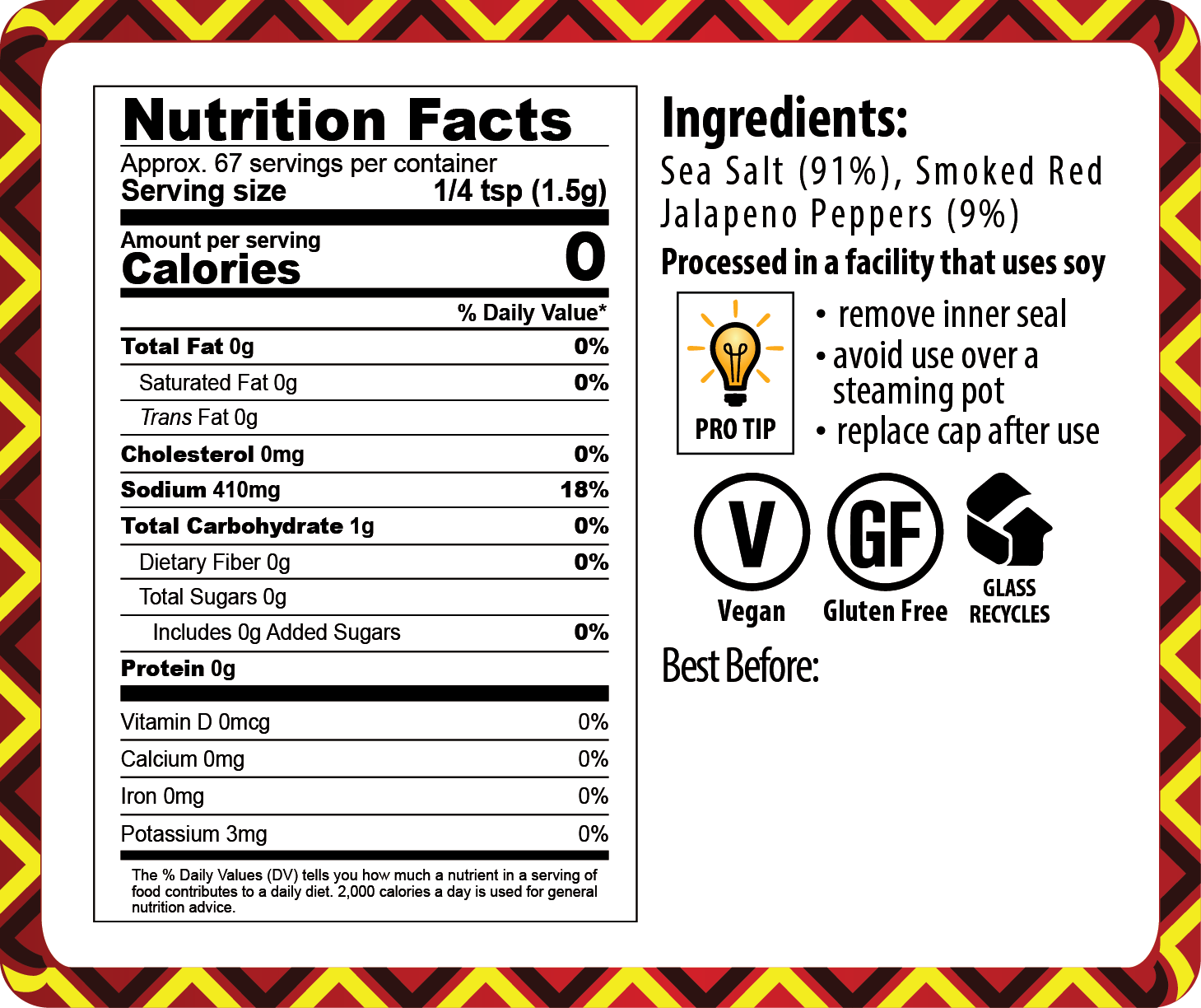 20-003 SMOKED CHIPOTLE SALT_NUTRITION FACTS