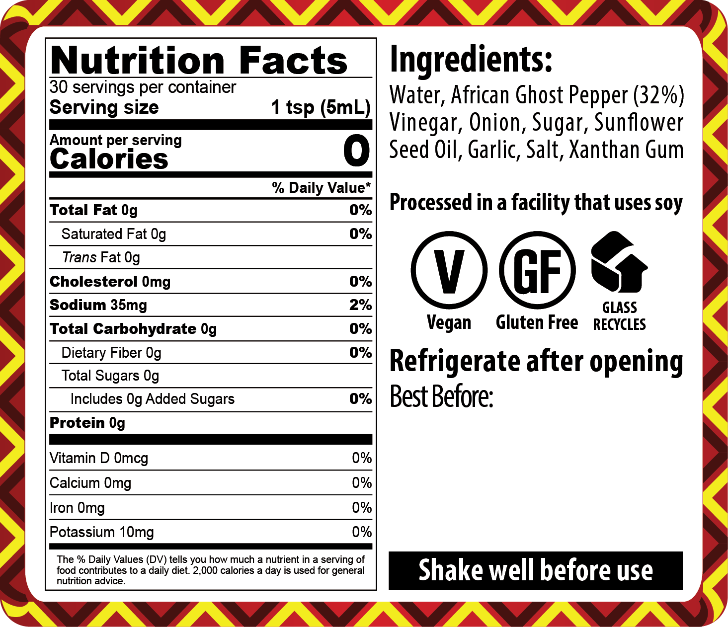 FINAL – 21-001 African Ghost Pepper 10+10 _ NUTRITION LABEL