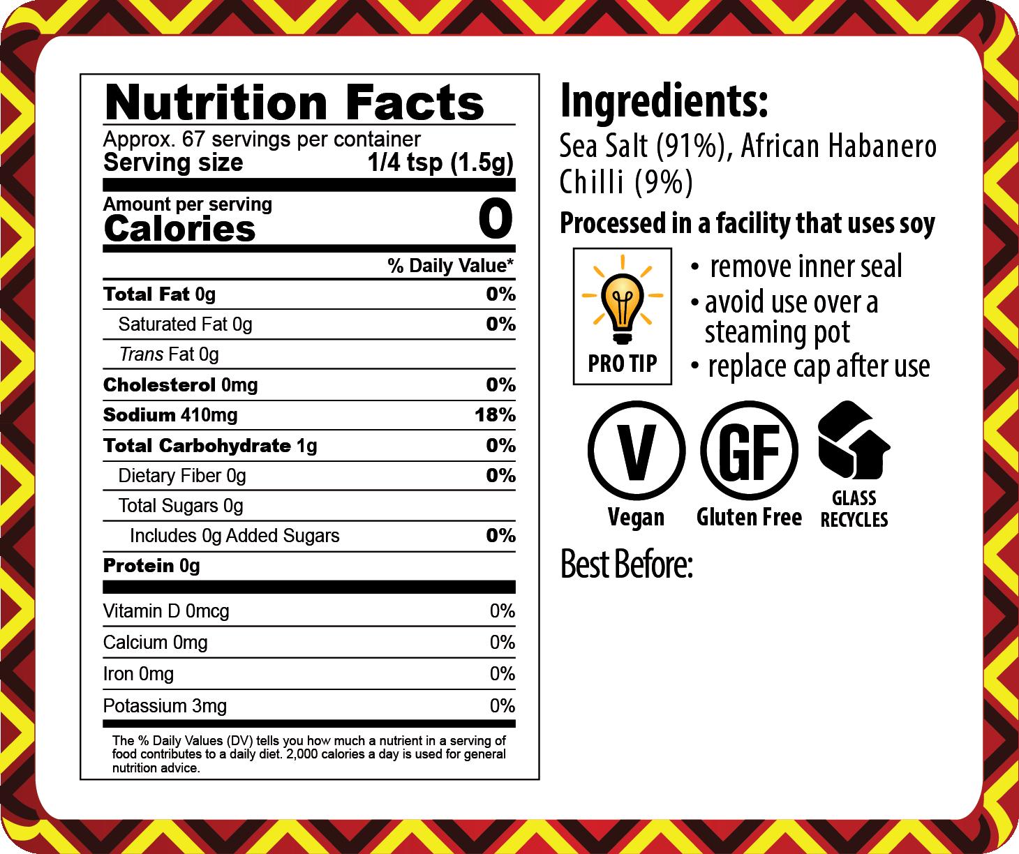 20-006 HABANERO CHILLI SALT_NUTRITION FACTS